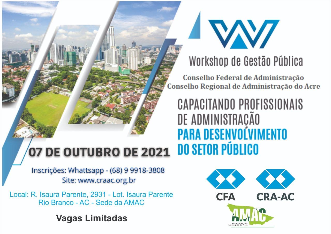 You are currently viewing CFA e CRA-AC abre inscrições para capacitação de Profissionais da Administração em Gestão Pública Para Diagnósticos dos Municípios do Acre