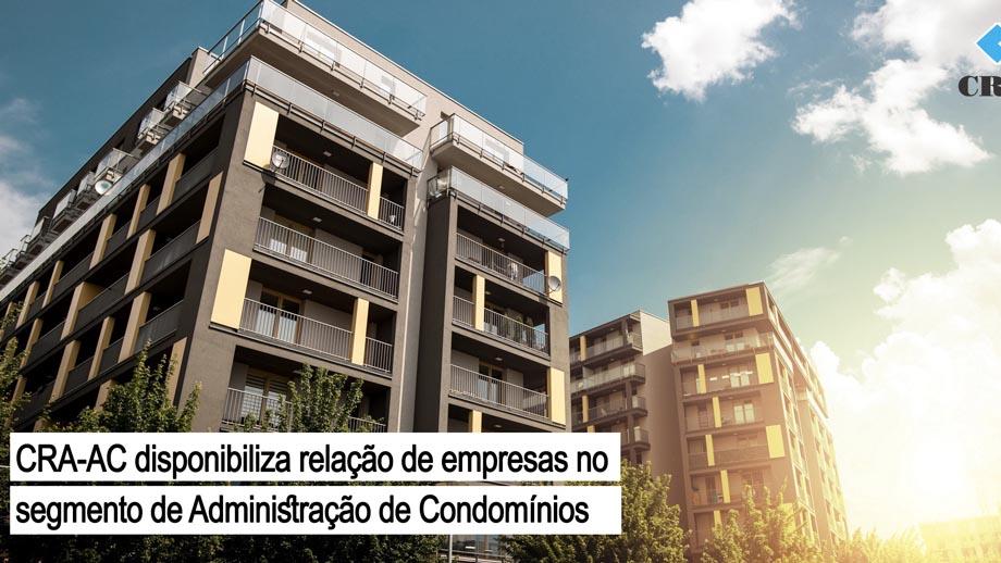 Read more about the article CRA-AC disponibiliza relação de empresas Administradoras de Condomínios